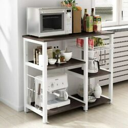Kitchen Island Bakers Shelf Utility Microwave And Toaster Stand Storage Organize