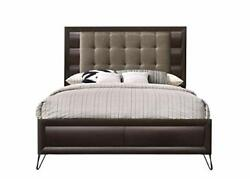 Eastern King Size Bed Dresser Mirror Night Stand Wooden Frame Padded Headboard
