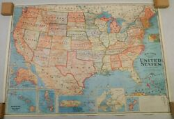 USA United States Wall Map Color Poster 27 1 2quot; x 19 3 4quot;