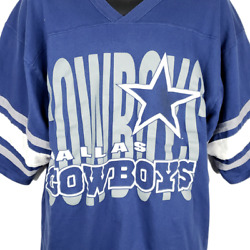 Dallas Cowboys T Shirt Jersey Vintage 90s Nfl Football Made In Usa Size Large