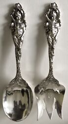Reed And Barton Sterling Silver Love Disarmed Sterling Silver Salad Set 10 1/2 15
