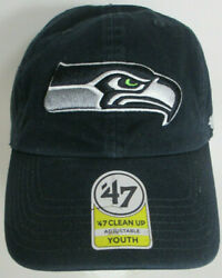 Seahawks Seattle Hat Youth Nfl Aprox 47 '47brand Clean Up Series Unisex Cap