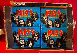 Kiss Donruss 78 Series 1 Display Box W/ 15 Original Sealed Packs And 19 Wrappers