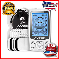 Dual Channel Tens Unit 24 Modes Muscle Stimulator Pain Relief Muscle Strength