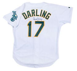 Ron Darling Twice Signed Oakland Athletics Game Used Aand039s Jersey Beckett Coa Auto