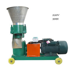 Techtongda 220v 3kw Chicken Feed Pellet Mill Machine 3mm Farm Animal Feed Make