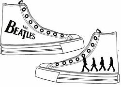 The Beatles Adult Custom Converse Shoes Character Personalised White