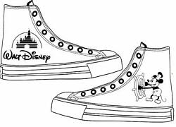 Mickey Mouse Disney Adult Custom Converse Shoes Character Personalised White