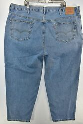 Leviand039s 560 Comfort Fit Tapered Leg Jeans Mens Size 48x30 Blue Meas. 47x30