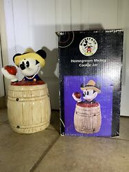 Vintage Treasure Craft Homegrown Mickey Mouse Cookie Jar New In The Box