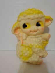 Dreamland Creations Rubber Mary Had A Little Lamb Sheep Yellow
