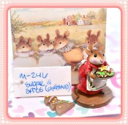 ❤️wee Forest Folk M-246 Sugar And Spice Christmas Cookies Limited Edition Red❤️