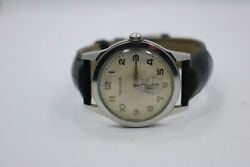 Vtg Benrus Series 2155 Mens Wristwatch Watch Band Manual Wind Military Style
