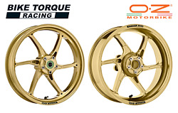 Oz Cattiva Gold Magnesium Road / Race Wheels To Fit Bmw S1000rr 10-18