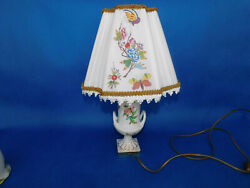 Herend Porcelain Handpainted Queen Victoria Lamp Vbo New Lampshade