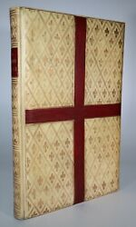 1900s Order For The Administration Of Holy Communion Unique Gilt Vellum Binding