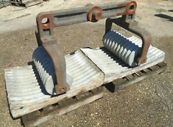Vintage Early 1900's Hershey Chocolate Factory Granite Conche Roller And Cradles
