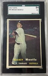 1957 Topps Mickey Mantle Sgc 7