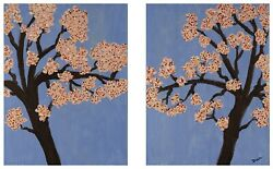Acrylic Painting Cherry Blossoms In Spring Iandii By Dawn M. Wayand 18x24 Art