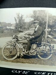 Rare African American Male On An Indian Motorcycle Album Paper