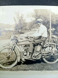 Rare African American Male On Indian Motorcycle Album Paper