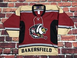 Official Vintage Bakersfield Authentic Condors Adult Small Hockey Jersey Mesh