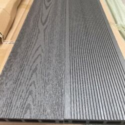 Charcoal Grey Grooved Topped Composite Decking   25 Boards   10 Square Metres