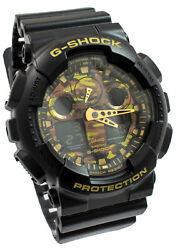 Casio G Shock Camouflage Dial Alarms Timer Ga-100cf-1a9er Brand New