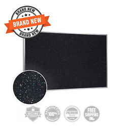 Ghent Aluminum Frame Recycled Rubber Bulletin Board Confetti - Choose Size