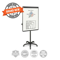 Mastervision Silver Easy Clean Dry Erase Mobile Presentation Easel 44 To 75-1/4