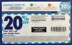 100 Bed Bath And Beyond 20 Off Single Item Coupons