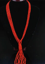 Genuine Natural Red Coral Necklace Chain Bracelet Worry Rosary Prayer Beads Mala