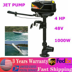 4.0jet Pump 1kw Electric Outboard Motor Fishing Boat Engine Brushless Motor 4hp
