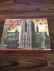New Rare Wrebbit Puzz 3d Puzzle 704 Pieces Cologne Cathedral Sealed Collectible