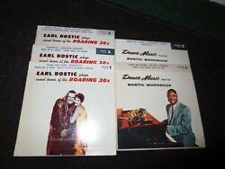 Earl Bostic Five 45 Rpm Records Tunes Of The Roaring 20's And Dance Music Records