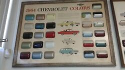1964 Chevrolet Dealer Showroom Color Chip Chart Other Years Available