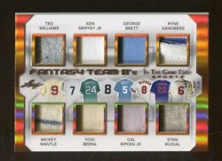 2018 Leaf In The Game Used Jersey Mantle Williams Griffey Musial 5/12 70242