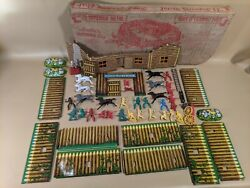 Vintage T Cohn Superior Fort And Trading Post Playset Toy Original Box