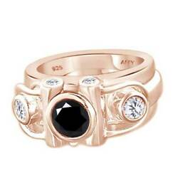 Cubic Zirconia Three Stone Ring 14k Rose Gold Over Sterling Silver