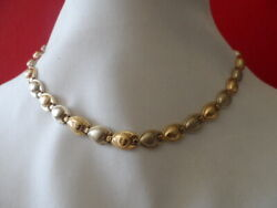 Vintage 10k Two Tone Solid Gold 17 Long Necklace