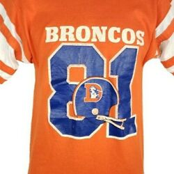 Denver Broncos T Shirt Vintage 80s Jersey Steve Watson 81 Made In Usa Size Small