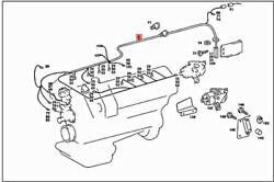 Genuine Mercedes Sl Slc C107 R107 Cable Harness Electronic Fuel A1075403809