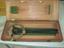 Vintage H. Hughes And Sons London Nautical Protractor, In Original Box Naval