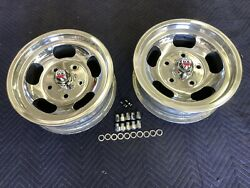 Vintage Pair Polished 15x 5.5 Shelby Call 500 Mags 5 On 5 1/2 Ford Pickupratrod