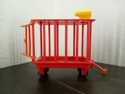 Remco 1976 Mcdonalds Playset Train Car Cage Replacement Piece