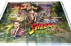 Sheena Queen Of The Jungle Tanya Roberts Poster French Billboard 8 Panels 1984