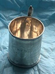 Early Gorham Coin Silver Cup Dated 1860 3 Tall X 2 3/4 Across