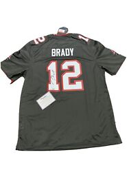 Tom Brady Fanatics Authenticated Autographed Signed Pewter Jersey Buccaneers