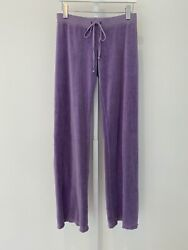 Juicy Couture Purple Sweat Pants Size Small Petit Chica