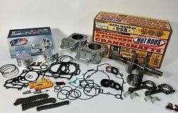 Brute Force 750 Cylinders Crank Rods Je 101 Pistons Motor Rebuild Cam Chains